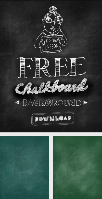 Free downloadable chalkboard background