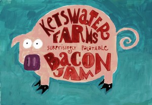 Label for bacon jam