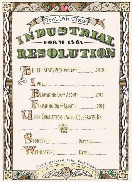 Industrial Resolution Form 13-16A