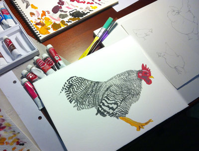 The lead chicken art