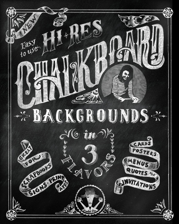 High Res Chalkboard Background