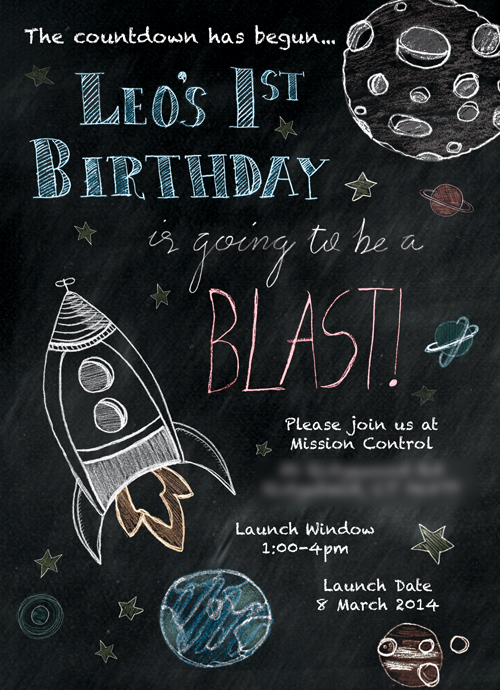 Chalkboard Invitation using Foolish Fire Backgrounds and Maison Rouge Creative's Design