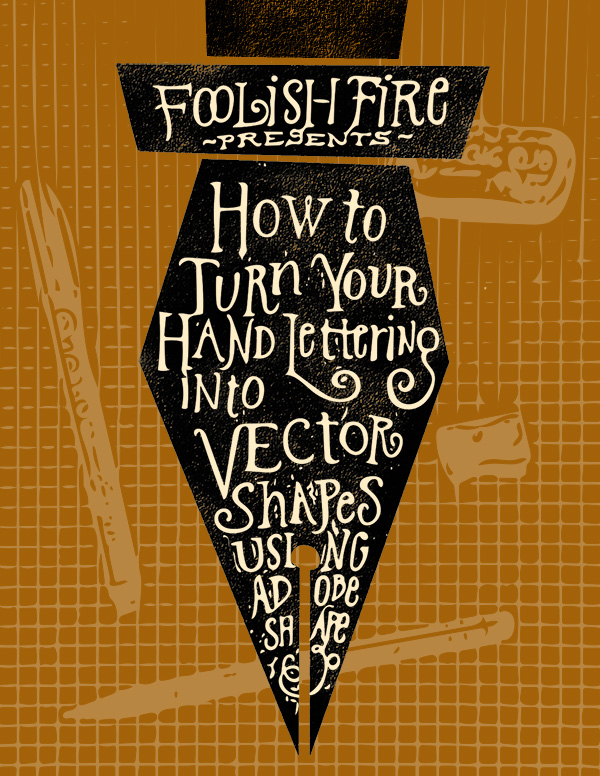 tutorial how to convert your hand lettering into vector shapes